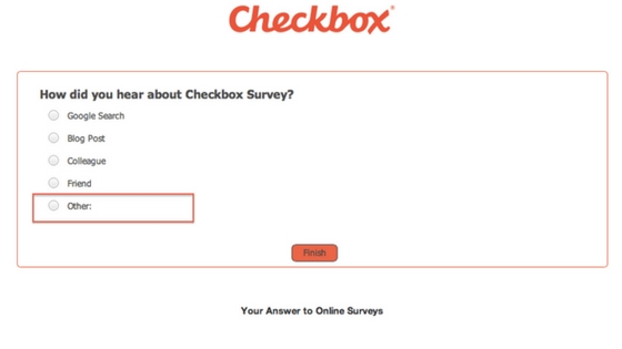 Check box survey